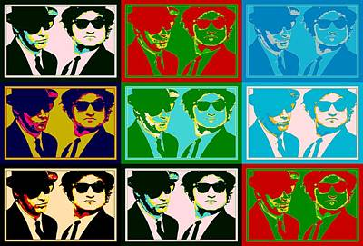 Chicago Theater Mixed Media - Blues Brothers Pop Art by Dan Sproul