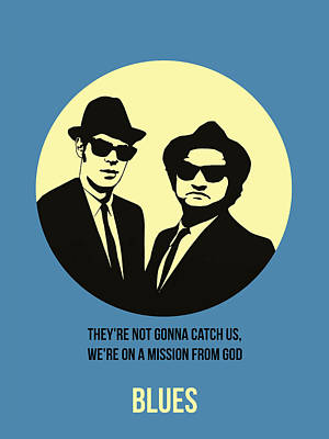 Blues Brothers Painting - Blues Brothers Poster 3 by Naxart Studio