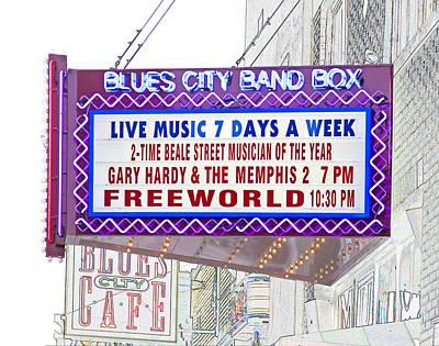 Digital Art - Blues City Band Box by Liz Leyden