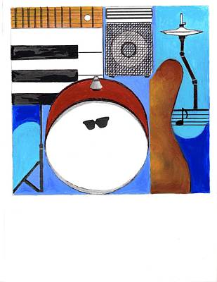 Painting - Blues Concept 1 by Joe Dagher