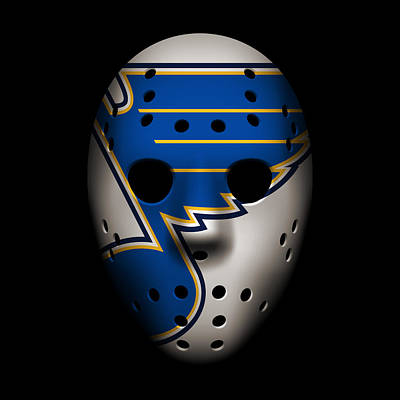 Hockey Photograph - Blues Goalie Mask by Joe Hamilton