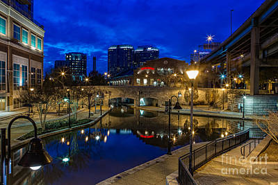 Canal Walk Photograph - Blues In The Canal by Tim Wilson