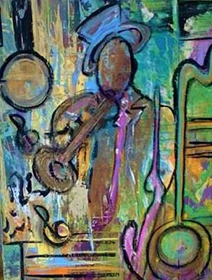 Painting - Blues Jazz Club Series by Kelly Turner