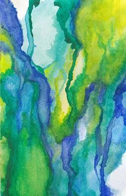 Mixed Media - Blues by Laura K Aiken