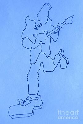 Musicians Drawings Rights Managed Images - Blues Musicians Royalty-Free Image by John Malone