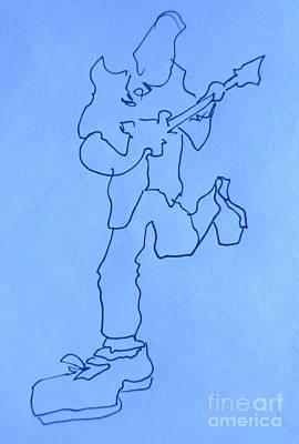 Musicians Drawings - Blues Musicians by John Malone