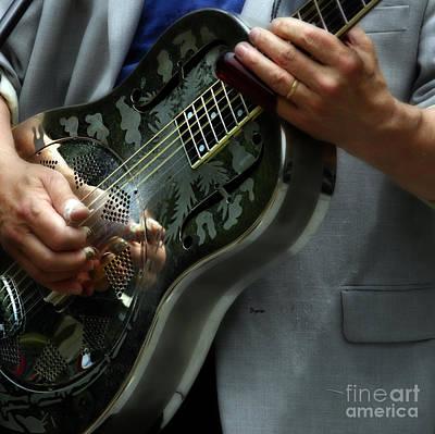 Resonator Photograph - Blues Of Steel  by Steven Digman