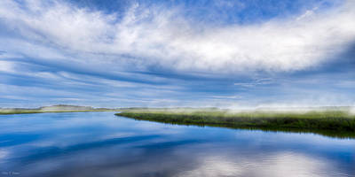 Photograph - Blues On Moon River - Panorama by Mark E Tisdale