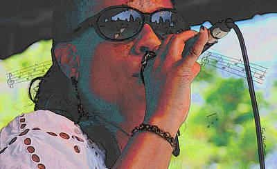 Rhythm And Blues Digital Art - Blues Singer by Kae Cheatham