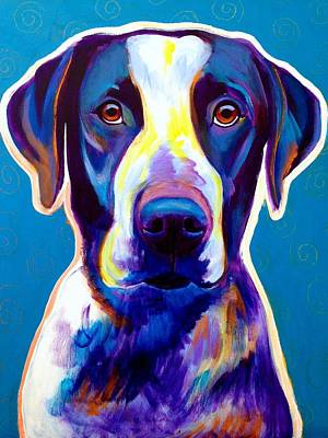 Dawgart Painting - Bluetick Coonhound - Berkeley by Alicia VanNoy Call