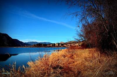 Okanagan Lake Photograph - Bluey Day - Vaseux Lake 03-11-2014 by Guy Hoffman