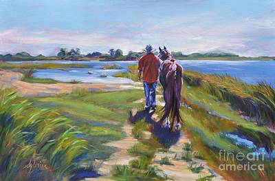 Cowboy Art Collector Painting - Bluff Point Beach Bums by Sylvina Rollins