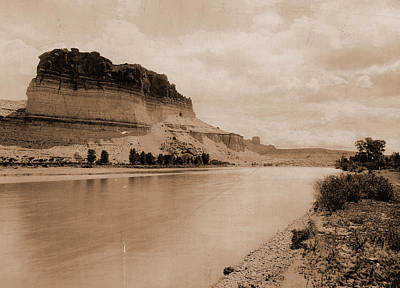 Wyoming Drawing - Bluffs Of The Green River, Wyoming, Jackson, William Henry by Litz Collection