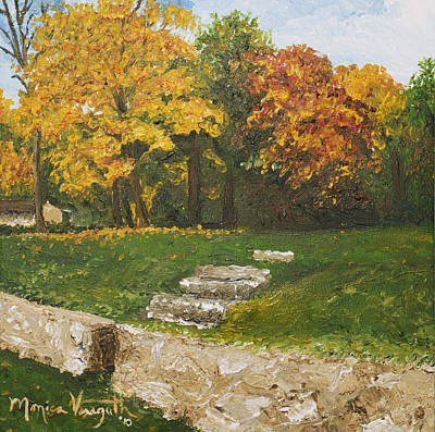 Painting - Bluffside In Autumn by Monica Veraguth