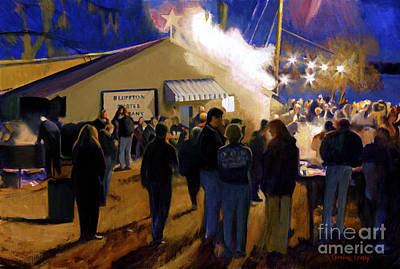 Bluffton Painting - Bluffton Oyster Roast by Candace Lovely