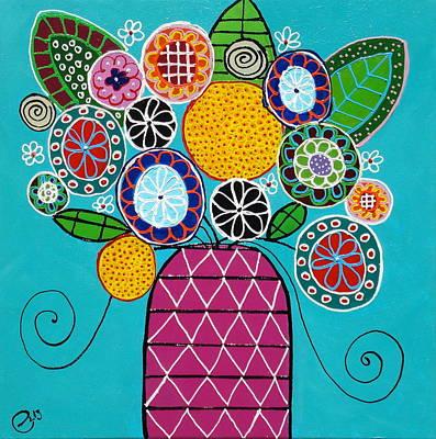 Painting - Blumen Aus Dem Garten by Elizabeth Langreiter