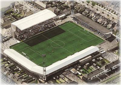 Football Paintings - Blundell Park - Grimsby Town by Kevin Fletcher