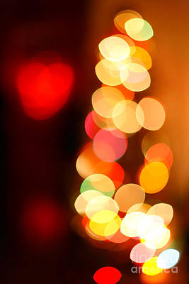 Heart-shaped Lights Photograph - Blurred Christmas Lights by Gaspar Avila