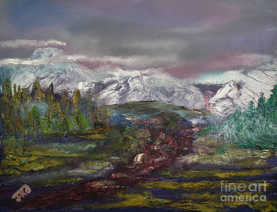 Painting - Blurred Mountain by Jan Dappen