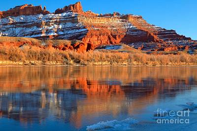 Photograph - Blurred Utah Reflections by Adam Jewell