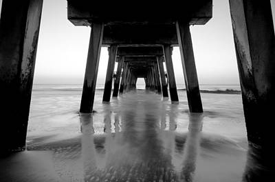 Photograph - Blurred Waves Under The Tybee Island Peir by Anthony Doudt