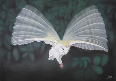 Blurred Wings Art Print