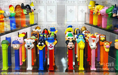 Pez Dispenser Photograph - Blurry But Colorful Games by Ida Maria Pan