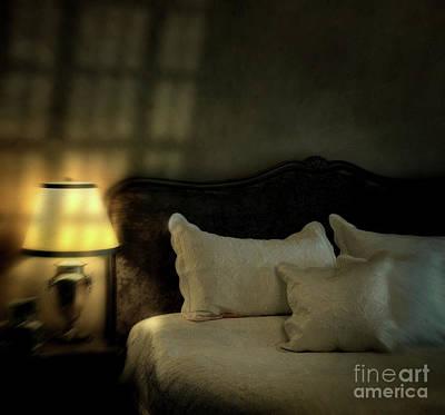 Blurry Image Of A Vintage Looking Bedroom Art Print by Sandra Cunningham