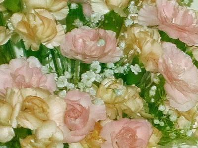 Pink Flowers Digital Art - Blush Beige Floral by Good Taste Art