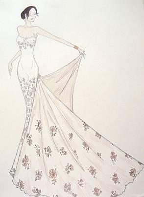 Drawing - Blush Profusion  by Christine Corretti