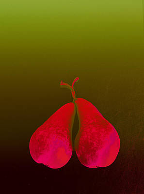 Photograph - Blushing Pears by David Pantuso