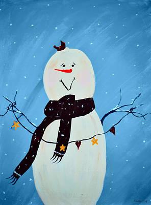 Blushing Snowman Art Print by Chastity Hoff