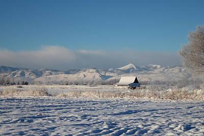 Photograph - Blustery Farm Scene by Trent Mallett