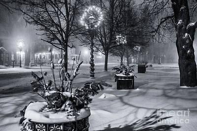 Blustery Winter Night Art Print
