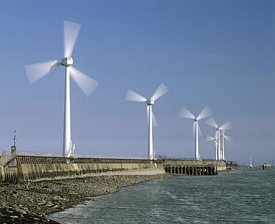 Blyth Harbour Wind Farm Art Print by Science Photo Library