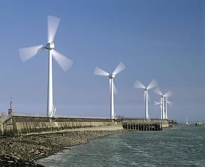 Blyth Photograph - Blyth Harbour Wind Farm by Science Photo Library