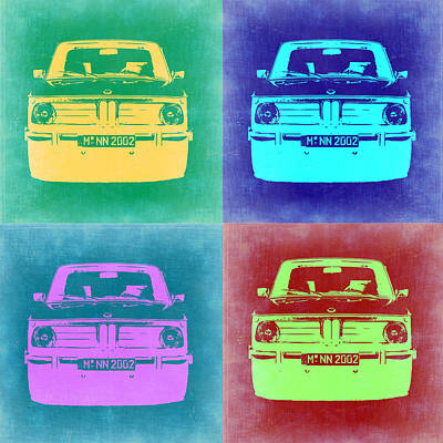 Bmw 2002 Pop Art 1 Art Print by Naxart Studio
