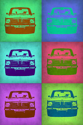 Old Cars Painting - Bmw 2002 Pop Art 2 by Naxart Studio