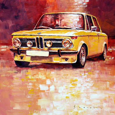 Classic Car Painting - Bmw 2002 Turbo by Yuriy Shevchuk