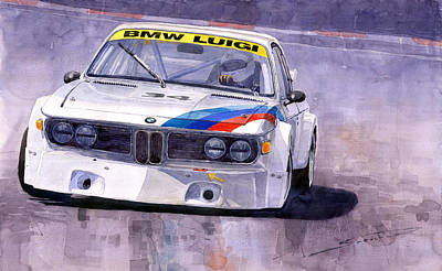 Cars Wall Art - Painting - Bmw 3 0 Csl 1972 1975 by Yuriy Shevchuk