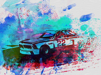 Bmw 3.0 Csl  Art Print by Naxart Studio