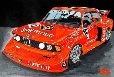Bmw 320 Art Print by Jose Mendez