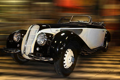 Photograph - Bmw 327 1938 Sports Tourer by Tom Conway