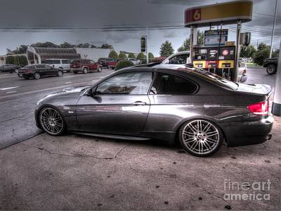Gas Station Photograph - Bmw 335 Ci Twin Turbo Carbon Fiber Sports Car by Robert Loe
