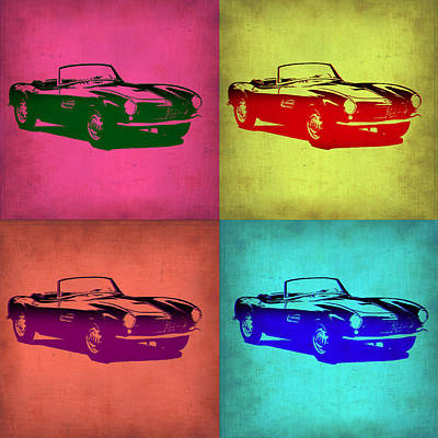 Bmw 507 Pop Art 1 Art Print by Naxart Studio