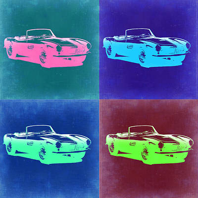 Bmw 507 Pop Art 2 Art Print by Naxart Studio
