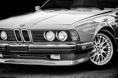 Photograph - Bmw 635csi Grille -1718bw by Jill Reger