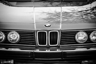 Photograph - Bmw 635csi Grille -1733bw by Jill Reger