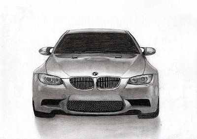 Typography Tees - BMW car from Germany. by Kokas Art