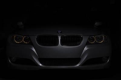 Bmw Car In Black Background Art Print